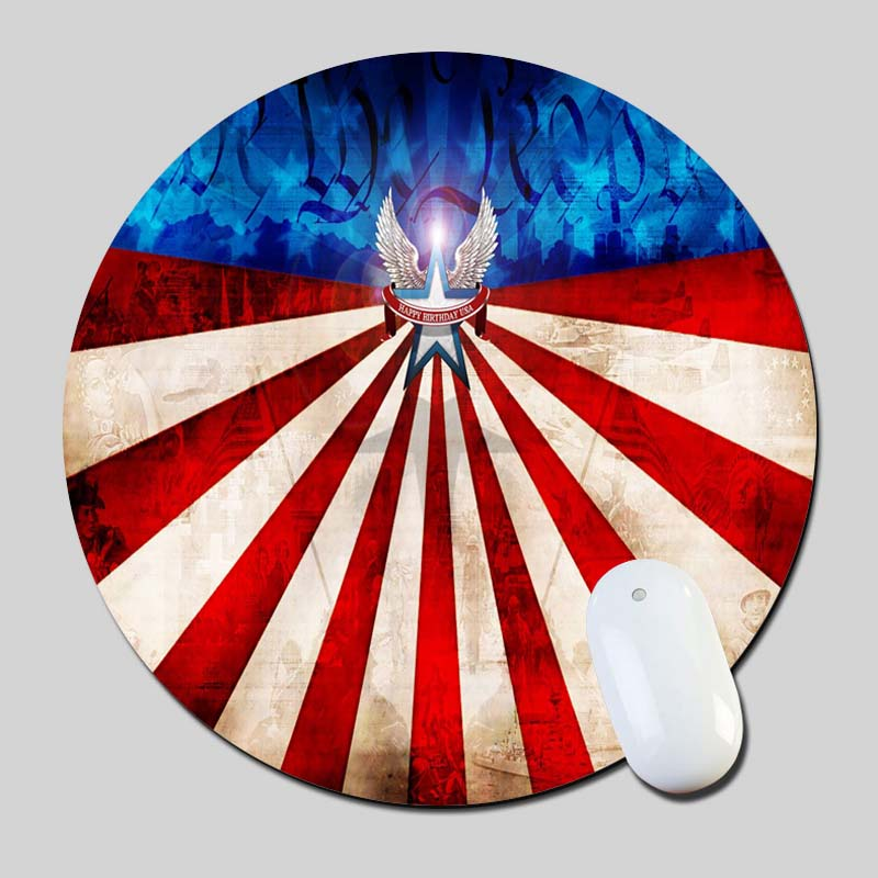 4Th Of July 2016 Round Gaming font b Mouse b font Mats font b Mice b