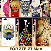 Top Selling Painting Design Hard Plastic Case For ZTE Nubia Z7 Max 5.5 Inch Z7Max Cell Phone Cover Protective Sleeve Back Shell