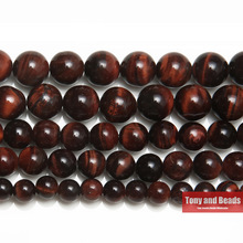 "Free Shipping Natural Stone Red Tiger Eye Agate Round Loose Beads 15"" Strand 4 6 8 10 12 14MM Pick Size For Jewelry SAB34"