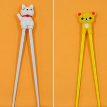 1 Pair teddy bear Lucky Cat children learning chopsticks Gift for childrens