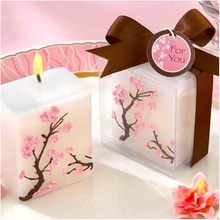 100pcs/lot Cherry Blossom Candle Romantic Wedding Favor Party Candle Decorative Baby Shower Gift(China)