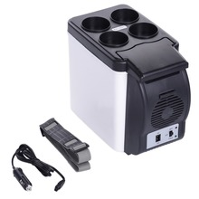 New 12V 6L Portable Mini Warm & Cool Vehicle Refrigerator Car Freezer Fridge Hot And Cold Double Function For Auto Car And Home