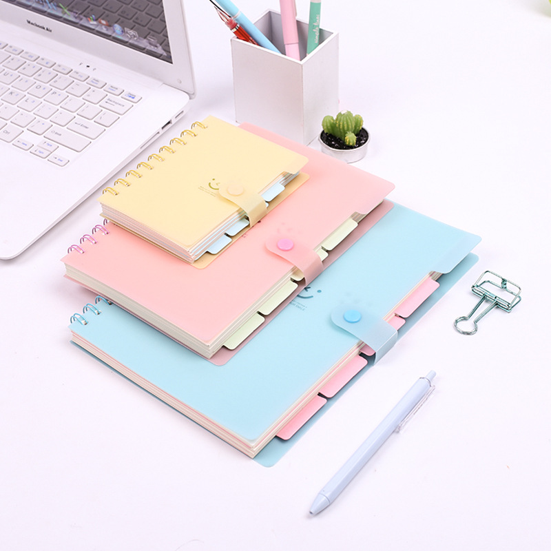 Planner Spiral Notebook  Business Organizer School Supplies Candy Color Notepads