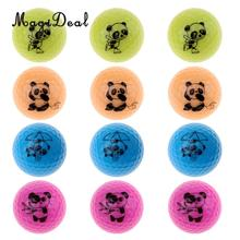 MagiDeal 16 Pieces Golf Driving Range Practice Ball Double Layer Golf Ball Cute Panda(China)