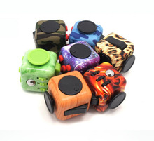 2017 New Style Click Glide Flip Spin Breathe Roll 3.3CM Mini Fidget Cube  Keychain Squeeze Fun Stress Reliever Stress Cube