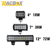 RACBOX 4 Inch 18W 36W 72W With CREE LED Chips Light Bar Flood 12V 24V IP67 For ATV SUV 4WD 4X4 Truck Tractor Trailer Work Light