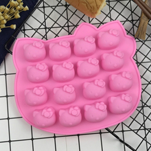 Cartoon Hello Kitty Cat Shape Cookie Chocolate Biscuit Fondant DIY Plunger Cutter Mold Baking Moulds Candy Maker Jelly Moulds