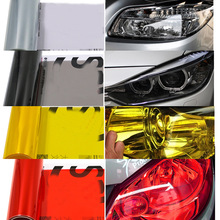 Car Styling 30CMX100CM Auto Car Headlight Taillight Lamp Light Tinting Vinyl Film Sticker For BMW Audi Mitsubishi Mercedes benz