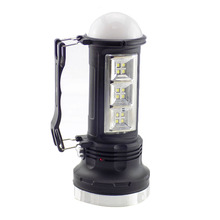 Outdoor Led Flashlight Solar Power Rechargeable Tactical Portable Hand Lantern Lamp LED Flash Lights Camping Torch Fishing Light(China)