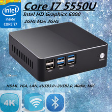 Eglobal Intel Core VC i7 5550U Broadwell Mini PC Linux Micro Computer Win10 HTPC TV Box 300M Wifi VGA HDMI(China)