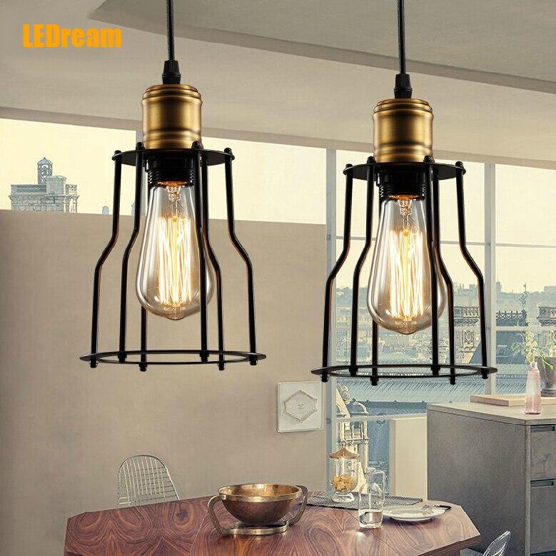 Scandinavian Designer Pendant Light LOFT Industrial Warehouse Lamp Dining Room Den Bedside Bar Iron Pendant Lamps<br><br>Aliexpress