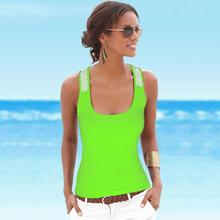 Ladies Sports Wearing Yoga Exercise Shirts Sequin Decorative Harness Bottom Vest Hot Girls Summer Beach Shirt