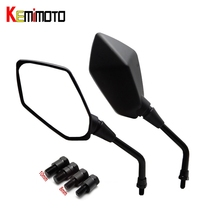KEMiMOTO Motorcycle rearview mirror 8mm 10mm Universal fit for BMW R1200GS for Kawasaki z800 for Honda cbr1000rr mirrors