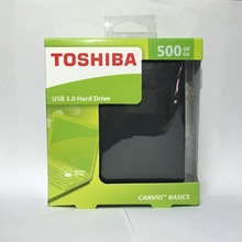 "TOSHIBA CANVIO BASICS 500GB External Hard Drive Disk HD Portable Storage Device USB 3.0 SATA 2.5"" Original New for Computer"