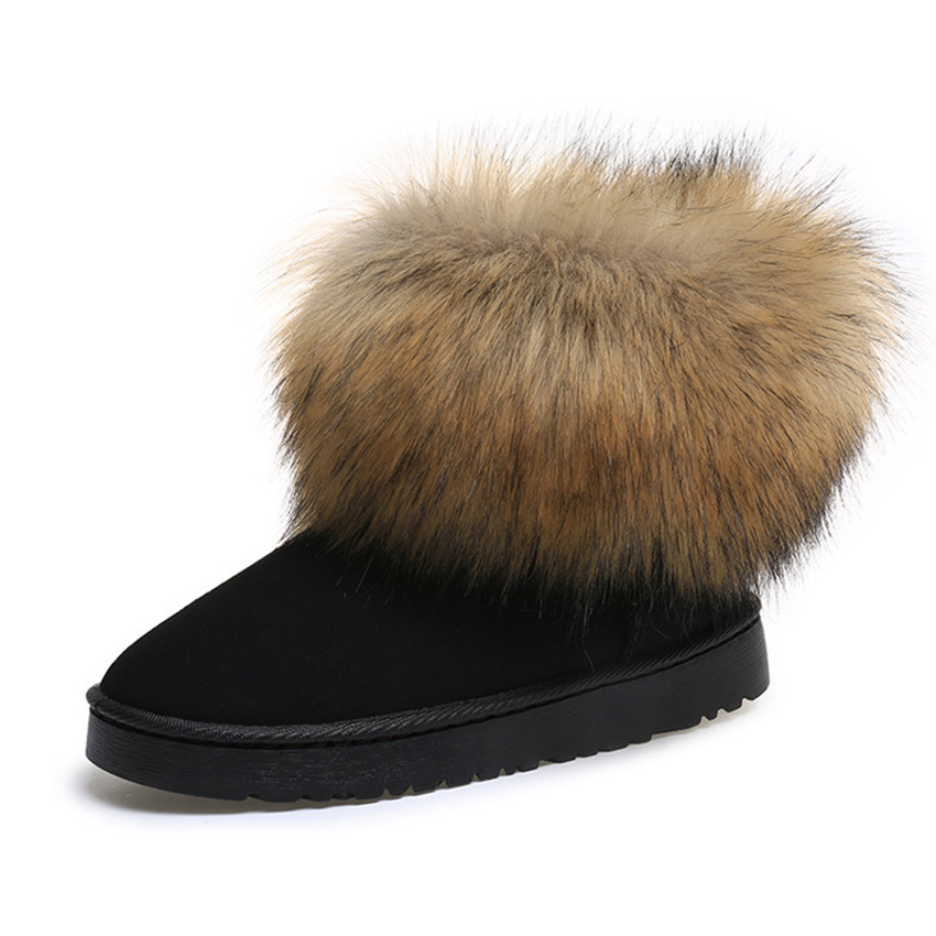 Free Shipping Womens Shoes Thick Fur Fashion Snow Boots Winter Cotton Warm Shoes For Women Ankle Boots Waterproof  33TXJ<br><br>Aliexpress