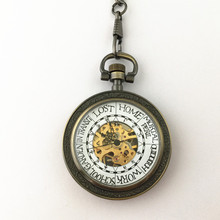 FANTASY UNIVERSE Freeshipping wholesale 1pc a lot Ron Weasley pocket watch necklace Mechanical movement Dia47mm DUFIDV866