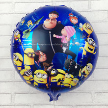 XXPWJ children's toys, aluminum balloons round small yellow people birthday party balloons wholesale high quality I-068(China)
