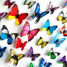 2015 Hot New 6 Small & 6 Big 3D Butterfly Wall Stickers For Home Fridge Decoration Butterflies Decals Gossip Girl Same Style