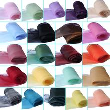 22 Colors Sheer Organza Table Runner Soft Sheer 30x275cm Fabric Wedding Table Runner Chair Bows ES9941