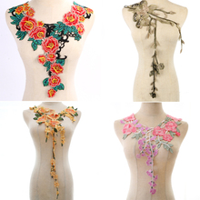 Embroidered Lace Neckline Collar Applique Motif Venise Scrapbooking Embellishment Trimming Patches Sewing Accessories