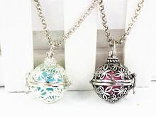 Best Sale Butterflies Around DIY Locket Pendant Mexican Musical Jingle Chime Music Pregnancy Baby Belly Ball Necklace(China)