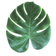12pcs NEW 35x29cm Artificial Tropical Palm Leaves Simulation Leaf For Hawaiian Luau Party Jungle Beach Theme Party Decorations
