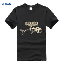 Different men t shirts Basic Solid Short Sleeve Awesome Skull Fish Monster Homme HipHop tee shirt Fit Funny Casual tshirt mens