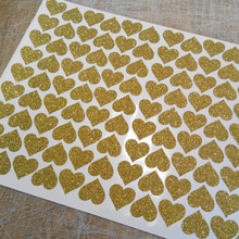 Gold/Silver Glitter Heart Envelope Seals For Birthday Baby Shower Wedding Invitation Decoration Gift Stickers Party Seal Sticker