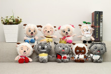 cartoon figures Pleasant Goat & Gray Wolf , one set/ 9 figures plush toys Christmas gift h392