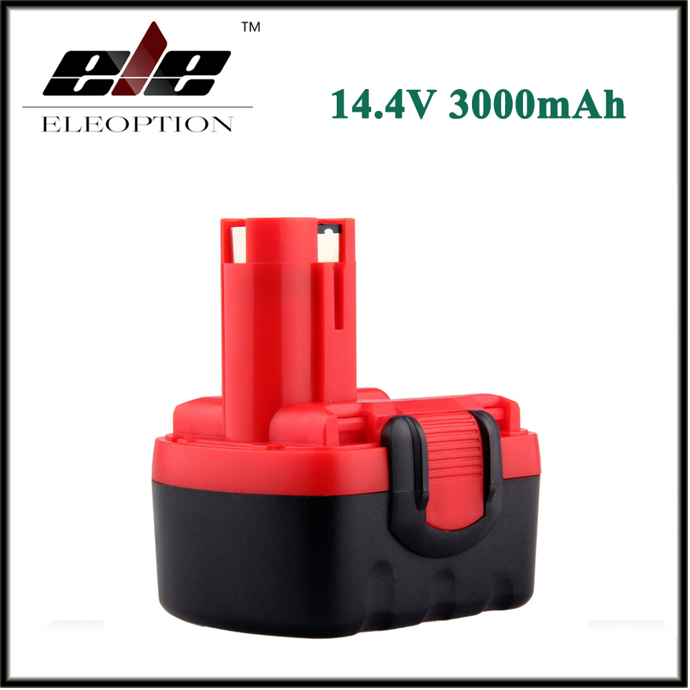 Eleoption 14.4V 3000mAh Ni-MH Rechargeable Battery for BOSCH BAT038 BAT040 BAT140 BAT159 BAT041 3660K<br>