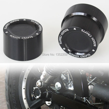 Pair New Black CNC Aluminum RC Rear Axle Cover Cap Nut For Harley Sportster XL883 XL1200 Free Shipping