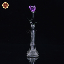 WR Best Valentine Gifts Long Stem Crystal Rose 2017 New Flower Beautiful Home Office Decoration Ideas Wedding Decorations