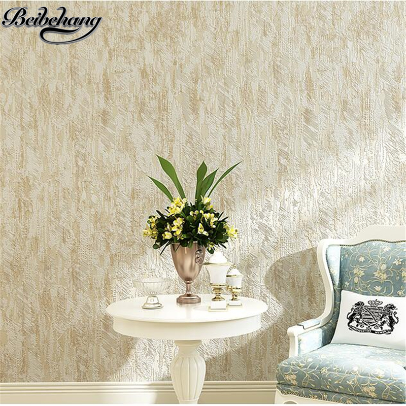beibehang Modern simple color plain color wallpaper living room bedroom non-woven wallpaper 3d stereo TV background wall paper<br>