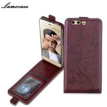 Lamocase Case For Huawei Honor 9 Leather Flip Cover For Huawei Honor 9 STF-AL00 5.15 inch Patterned Protective Mobile Phone Bag(China)