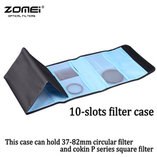 ZOMEI Camera Lens Filter Wallet Case 10 Pockets Filter Bag For 37mm-82mm UV CPL Cokin P Series Square Filter Pouch