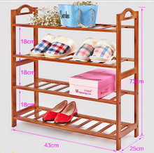 Simple small shoe rack bamboo storage multilayer shoe rack(China)