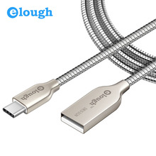 Elough Newest USB C Type C Cable 3.1 Fast Charger For Xiaomi Mi5 Huawei P9 Honor 8 Oneplus 3t LG G5 Charge Data Sync USB Type-C