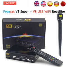 Freesat V8 Super DVB-S2 Satellite TV Receiver With USB Wifi Support PowerVu Biss Key Cccamd Newcamd Youtube Youporn Set Top Box(China)