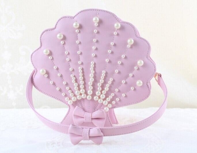 lolita sea shell with pearl Shape bag shoulder bag handmade Sweet HARAJUKU new<br><br>Aliexpress
