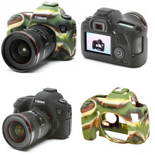 Camouflage/black Camera Bag Soft Silicone Rubber Camera Protective Body Cover Case Skin For Canon EOS 6D