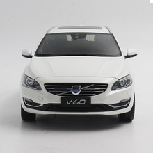 1:18 Diecast Model for Volvo V60 2016 White SUV Alloy Toy Car Collection