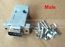 5pcs/lot DB-9 DB9 RS232 Male Female Connector with socket D-Sub 9 pin PCB Connector Free shipping