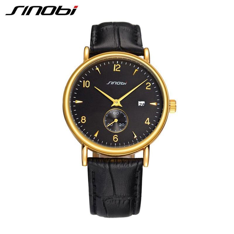 SINOBI 2017 Relogio Masculino Watch Man Gold Quartz-watch Waterproof Sport Dress Mens Watches Top Brands Luxury Gift Clocks<br><br>Aliexpress