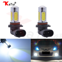 2pcs Car Lamp 9006 HB4 Fog Light DRL Daytime Running Light COB Led 7.5W Automotive Led Bulb Xenon White 6000K Led Replacement(China)