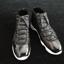 "1/6 scale black Sport Sneaker Basketball boots shoes fit 12"" figure body toys S11"