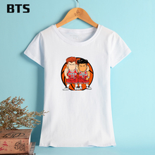 BTS Slam Dunk Funny T-shirt Women Ladies Fashion Plus Size Creative Hot Sale Summer Funny T Shirts Women Japanese Anime(China)