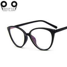 BOYEDA Brand Fashion Women Myopia Eye Glasses Frame Cat's Eye Optical Glasses Frame Vintage Retro Spectacle Eyewear Eyeglasses