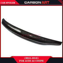 Carbon Fiber Spoiler For Audi A5 Coupe Car Tuning Body Kit Caracter-e Performance Convertible 2012+(China)