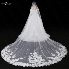 LZP030 3D Bridal Lace With Flowers Veil 5 Meters
