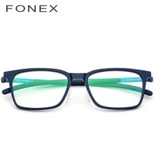 B Titânio Puro Óculos de Armação de Acetato Homens 2018 Nova Praça de Alta  Qualidade Miopia Óculos Óculos de Prescrição Óptica Ó.. ec2d8f1092